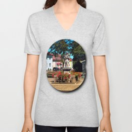 A saint on the local square Unisex V-Neck