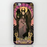 maleficent iPhone & iPod Skins featuring Maleficent by Madeoftin