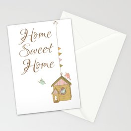 Home sweet home | birds house | home is where your love is | positive quote Stationery Cards