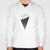 french fries Hoodies featuring French Fries frites by Keep It Simple