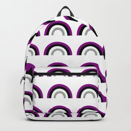 Asexual / Demisexual Pride Flag Rainbow Shape Backpack