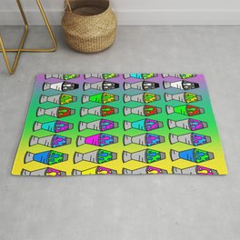 Lava Lamp Colorful Pattern Rug