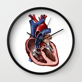 Cross section of human heart. Wall Clock