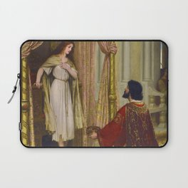 "Edmund Blair Leighton ""The King and the Beggar-maid"" Laptop Sleeve"