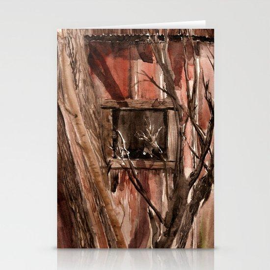 Barn window Stationery Cards