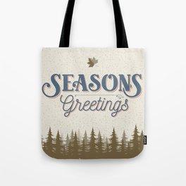 Seasons Greetings - North Timber Tote Bag