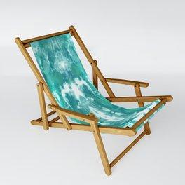 Aqua Blue Lagoon Sling Chair