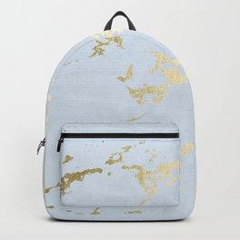 Kintsugi Ceramic Gold on Sky Blue Backpack