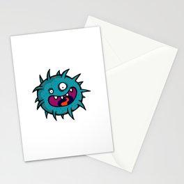 Cartoon Scary Bacteria Stationery Cards