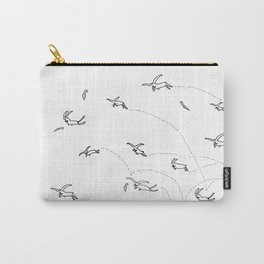 Crazy Rabbits Carry-All Pouch