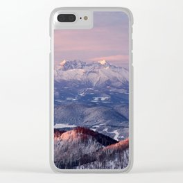 Beautiful sunrise in the Tatra mountains Clear iPhone Case