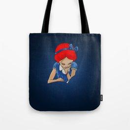 Alice in Readerland Tote Bag
