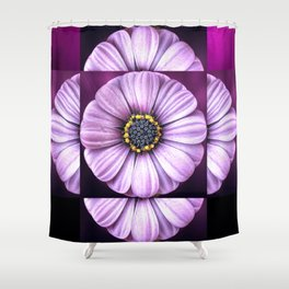 Purple flower arrangement Shower Curtain