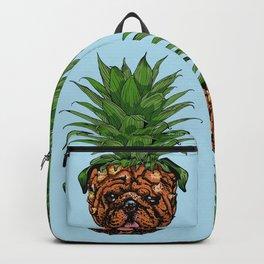 Pineapple English Bulldog Backpack