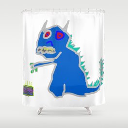 Luna's Cake Monster Shower Curtain