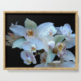 A White Orchid Wedding Serving Tray