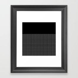 Dotted Grid Boarder Black Framed Art Print