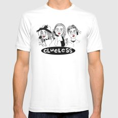 Clueless LARGE Mens Fitted Tee White