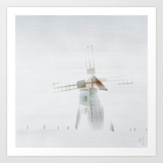 fog, at Butle, Fårö, Gotland, Art Print