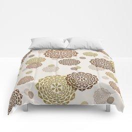 Tones Of Gold & Brown Mandalas Comforters