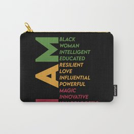 I am a black woman intelligent educated resilient Carry-All Pouch