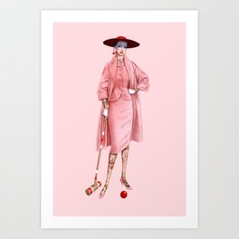 Croquet and Ink Two Art Print