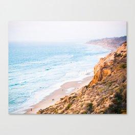 Cliffs at Torrey Pines Reserve Fine Art Print Canvas Print