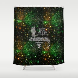 Space man  and Moonwalk 2 Shower Curtain