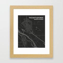 The Battlefords, Saskatchewan Framed Art Print