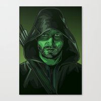 green arrow Canvas Prints featuring Arrow by Digital Sketch
