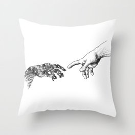 The Creation of Outer Space Throw Pillow