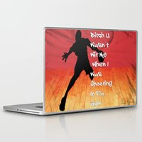 snatch Laptop & iPad Skins featuring Shooting In Da Gym by Graffixartist