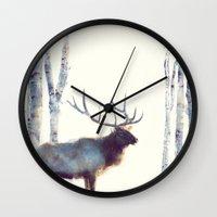 elk Wall Clocks featuring Elk // Follow by Amy Hamilton