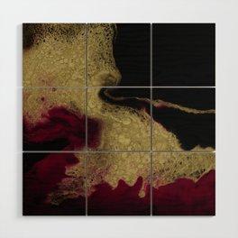 Black Honey - resin abstract painting Wood Wall Art