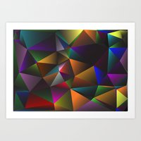 triangles Art Prints featuring TRIANGLES by eARTh