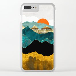 Turquoise Vista Clear iPhone Case