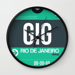 GIG Rio De Janeiro Luggage Tag 1 Wall Clock