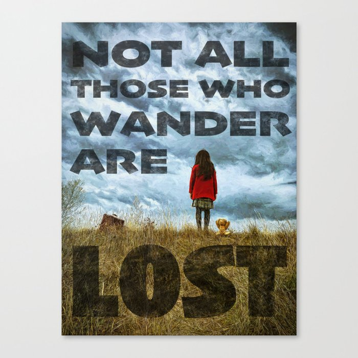 Not Lost - painting by Brian Vegas Canvas Print