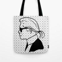 karl lagerfeld Tote Bags featuring Karl by cvrcak