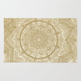 tan splash mandala swirl Rug