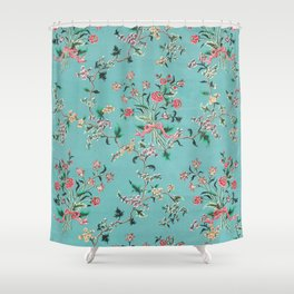 Length of painted silk mid-18th century Chinese Shower Curtain