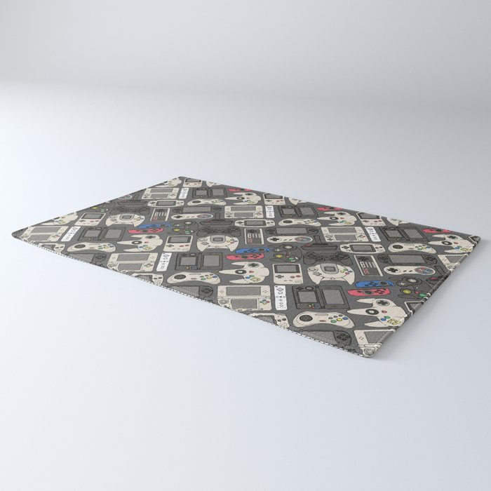 Video Game Controllers in True Colors Rug