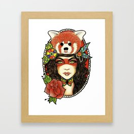 Red Panda. Framed Art Print