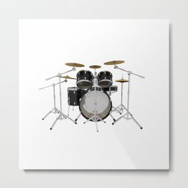 Black Drum Kit Metal Print