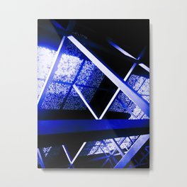 Crazy Blue Lines Metal Print
