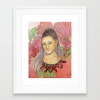 ariana grande Framed Art Prints featuring Ariana II by Share_Shop