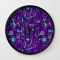 sports Wall Clocks featuring les sports by Estelle F