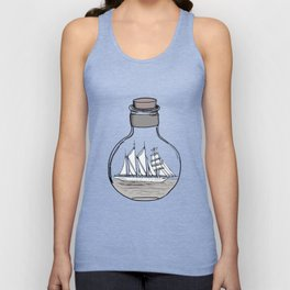 The Ship in the Bulb Unisex Tank Top