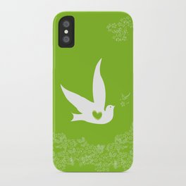 Love and Freedom - Green iPhone Case