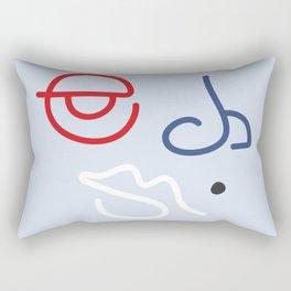 Fractured Art Face Pattern Rectangular Pillow